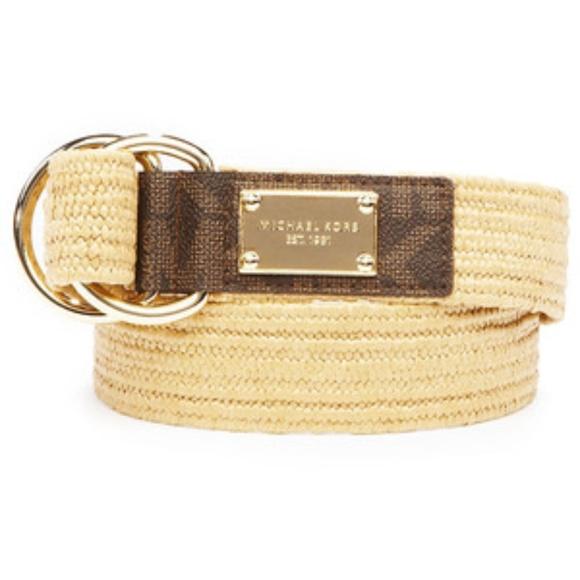 Michael Kors Stretch Straw Belt